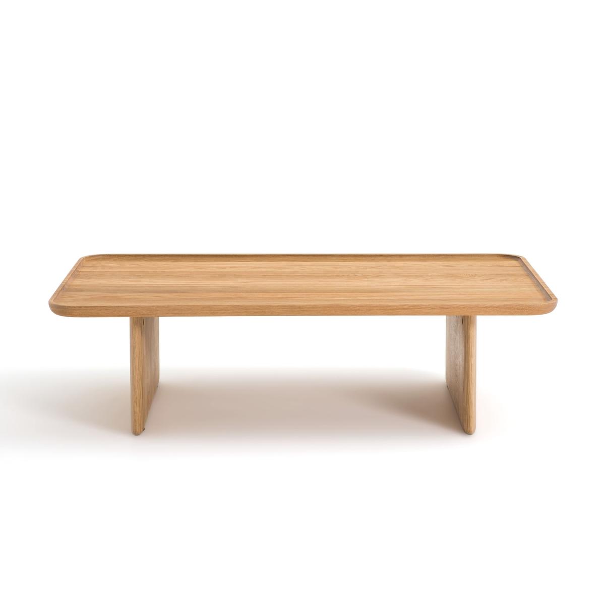 Стол LaRedoute Журнальный из массива дуба Medito единый размер каштановый столик laredoute журнальный из дуба покрытого олифой adelita единый размер каштановый