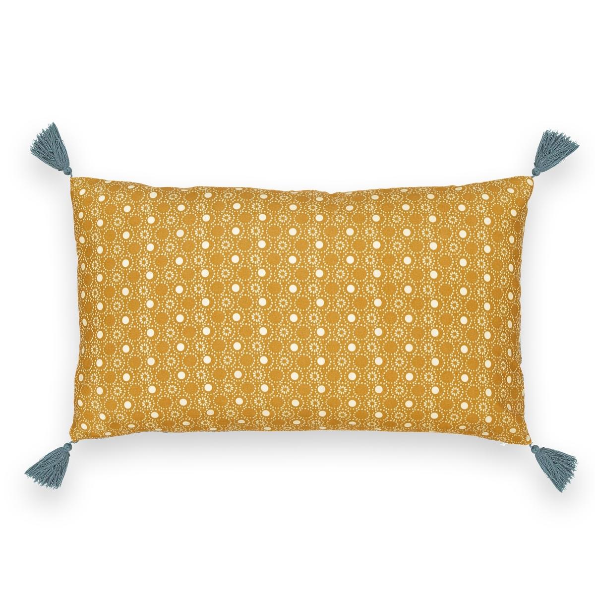 Чехол на подушку или наволочка, SHINTOЧехол или наволочка на подушку Shinto, качество Qualit? Best. Если Вам нравятся модные микроузоры, то чехол на подушку Shinto из перкали Вам придется по вкусу.Характеристики чехла на подушку или наволочки Shinto : Перкаль, 100% хлопок.Рисунок на желтом фоне с лицевой стороны, рисунок на синем фоне с оборотной стороны.Отделка кисточками в 4 углах.Застежка на скрытую молнию.Знак Oeko-Tex® гарантирует, что товары прошли проверку и были изготовлены без применения вредных для здоровья человека веществ.Характеристики чехла на подушку или наволочки Shinto : 40 x 40 см50 x 30 см50 x 70 смПодушку Terra, а также другие предметы интерьера Shinto Вы найдете на laredoute.ru<br><br>Цвет: желтый/ синий<br>Размер: 40 x 40  см