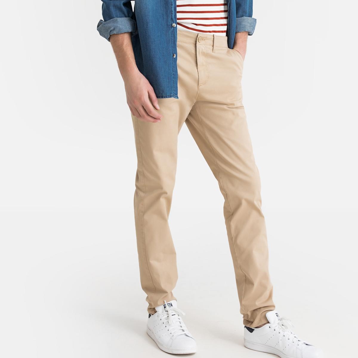 Calças chino corte slim, algodão stretch
