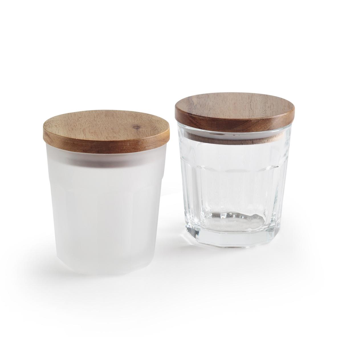 Банка для хранения POTIA (2 шт.)Описание:Комплект из 2 банок для хранения La Redoute Interieurs, в стиле банки из-под варенья.Характеристики 2 банок для хранения : •  Деревянная крышка с каучуковой прокладкой •  Банка из стекла •  Одна банка из матового стекла и одна банка из прозрачного стекла •  Подходит для мытья в посудомоечной машинеРазмеры 2 банок для хранения : •  Диаметр: 10,5 cм •  Высота : 12 смВсю коллекцию столового декора вы найдете на сайте laredoute.<br><br>Цвет: белый/прозрачный