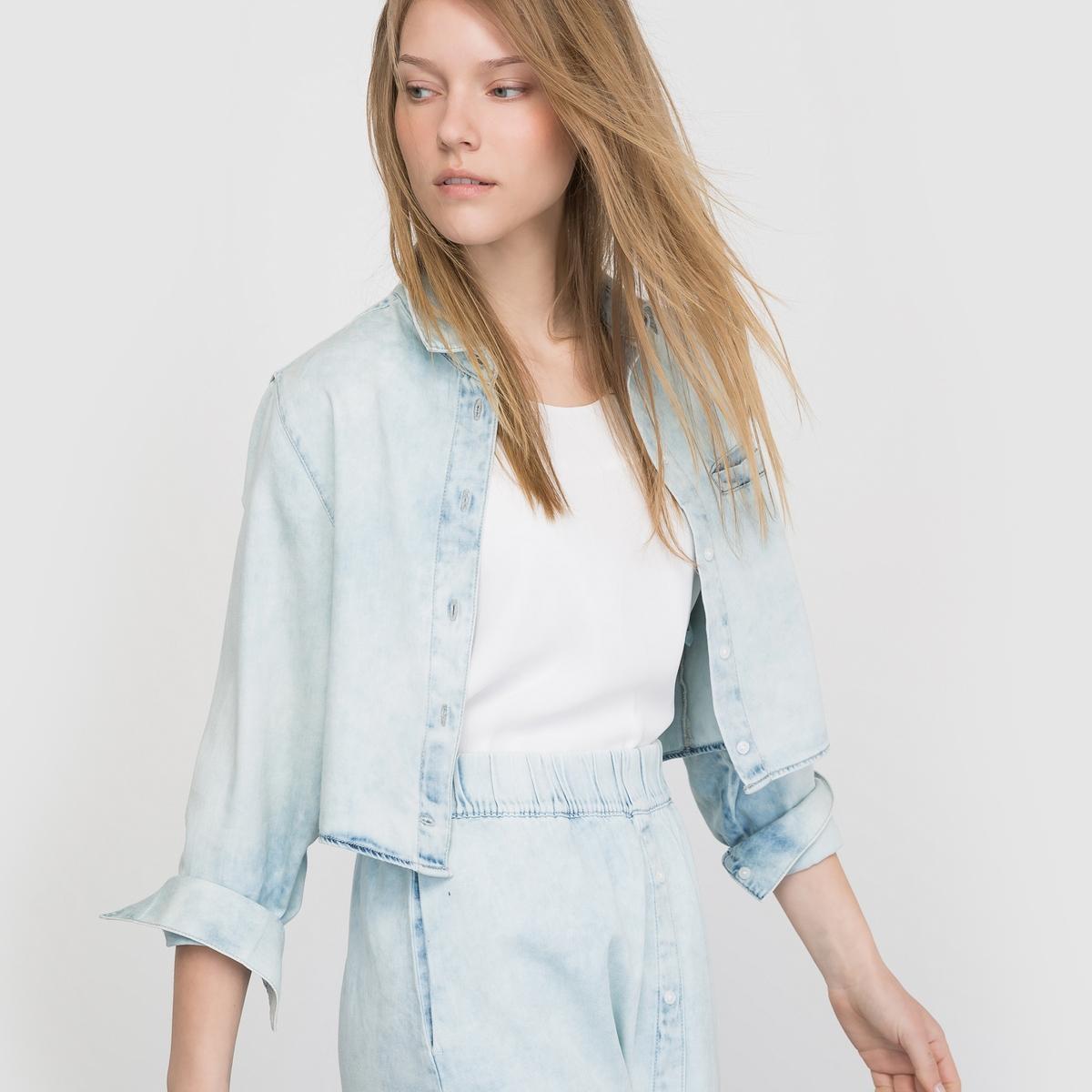 Рубашка с длинными рукавамиХарактеристики и детали       Материал: 100% хлопка.       Марка: CHEAP MONDAY.<br><br>Цвет: голубой выбеленный