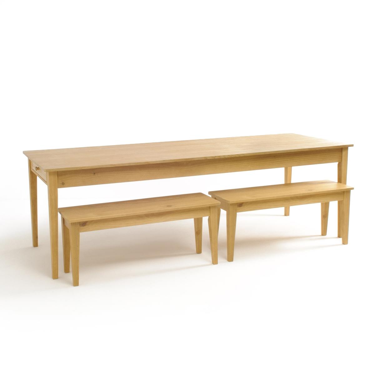 Стол в деревенском стиле на 8-10 персон из массива сосны ALVINA