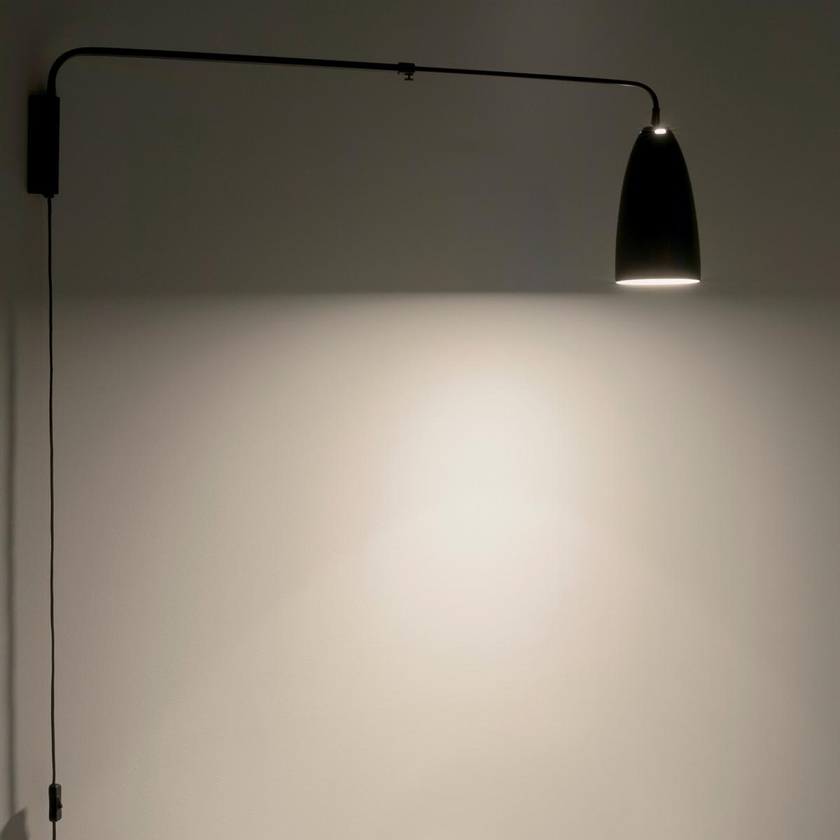 Светильник телескопический GizelСветильник телескопический  Gizel. Элегантные изогнутые линии из черного металла с деталями, окрашенными под латунь.Характеристики : - Регулируемый абажур- Патрон E27 для флюокомпактной лампочки 15W (не входит в комплект).- Кабель с покрытием из черного текстиля.- Совместима с лампочками электрического класса  A. Размеры : - Выс32 x Глубина мин. 1м, глубина макс. 1,50 м .- Абажур : ?14 x Выс25 см<br><br>Цвет: черный