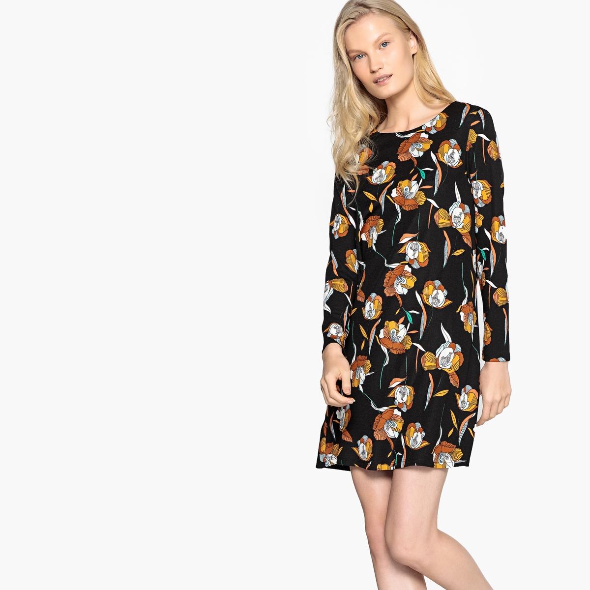 Платье  черный наб. рисунок цвета