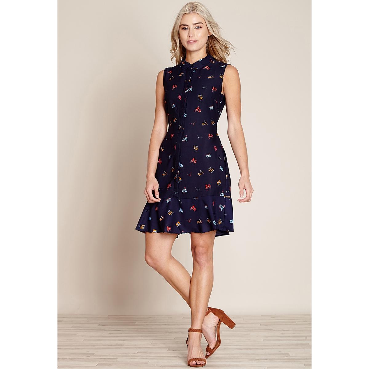 Платье короткое расклешенное с графичным рисунком платье yumi yumi платье