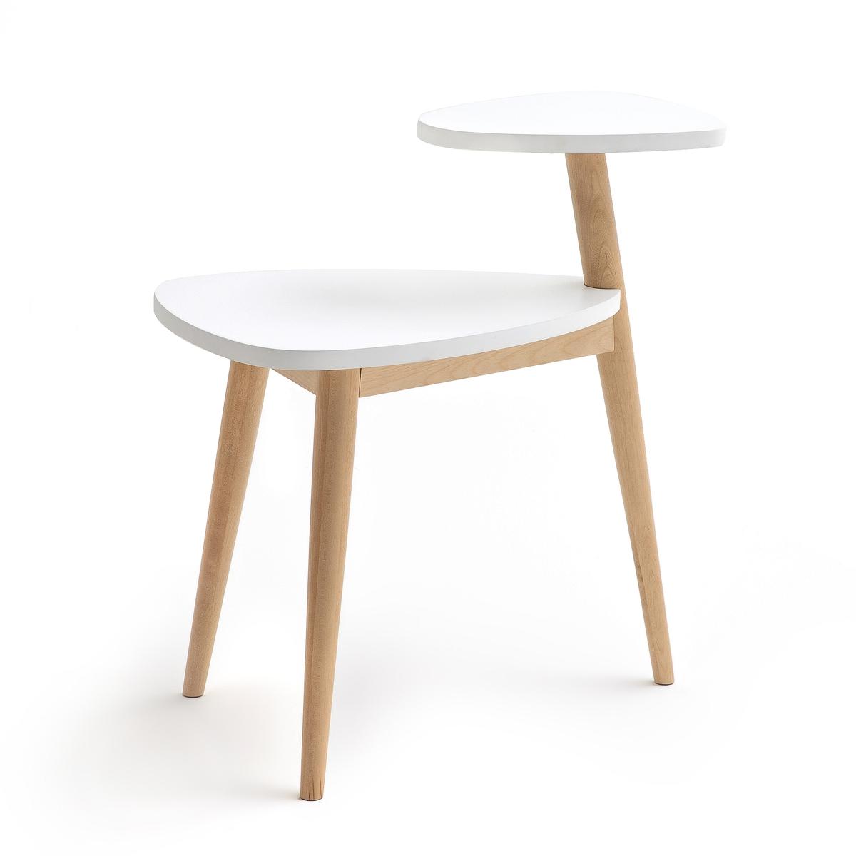 Столик журнальный в винтажном стиле JIMI кресло низкое и широкое в винтажном стиле из велюра с бахромой ramona
