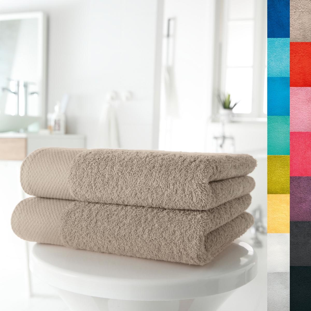 2 полотенца, 420 г/м² от La Redoute
