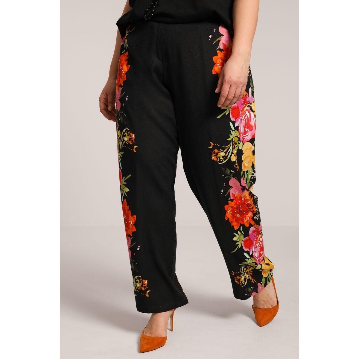 Pantalon en fibranne dessin placé