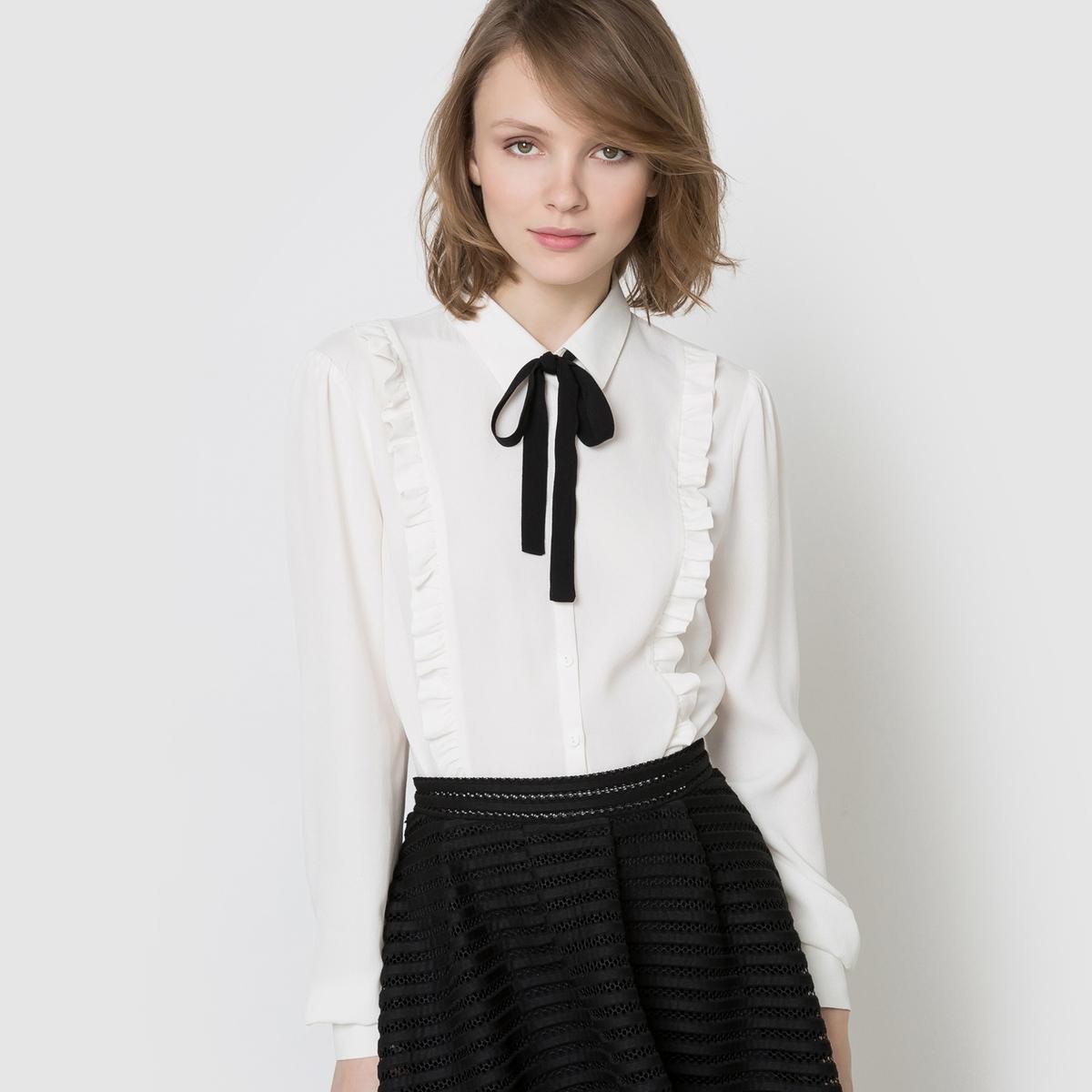 Рубашка с воланами и галстуком-лавальер