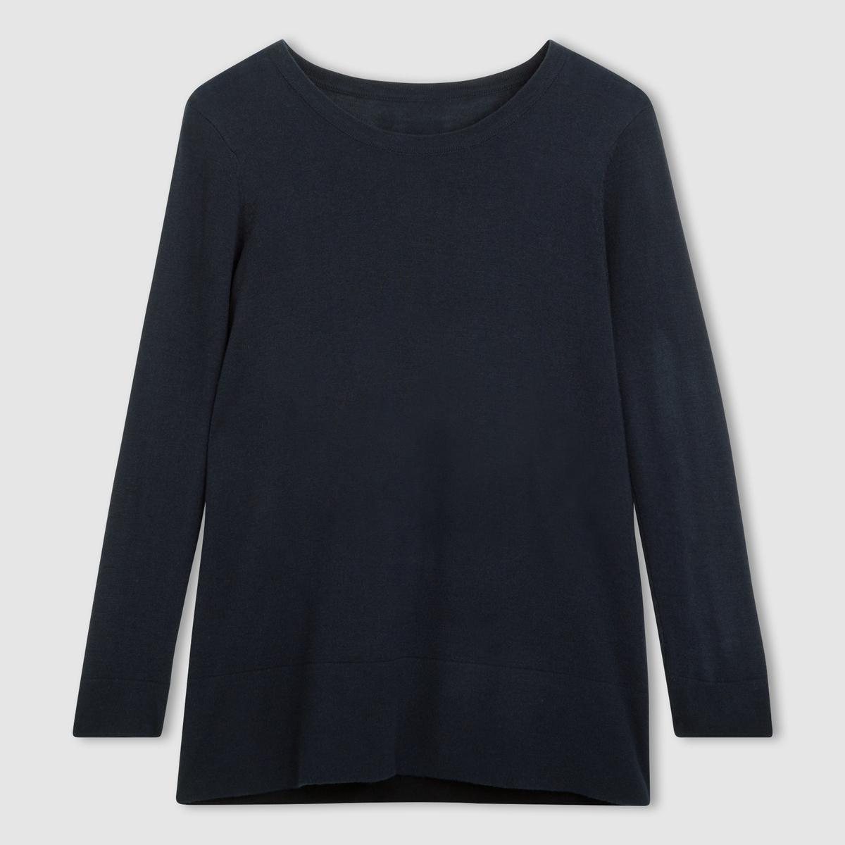 Пуловер 50% вискозы. Длинные рукава