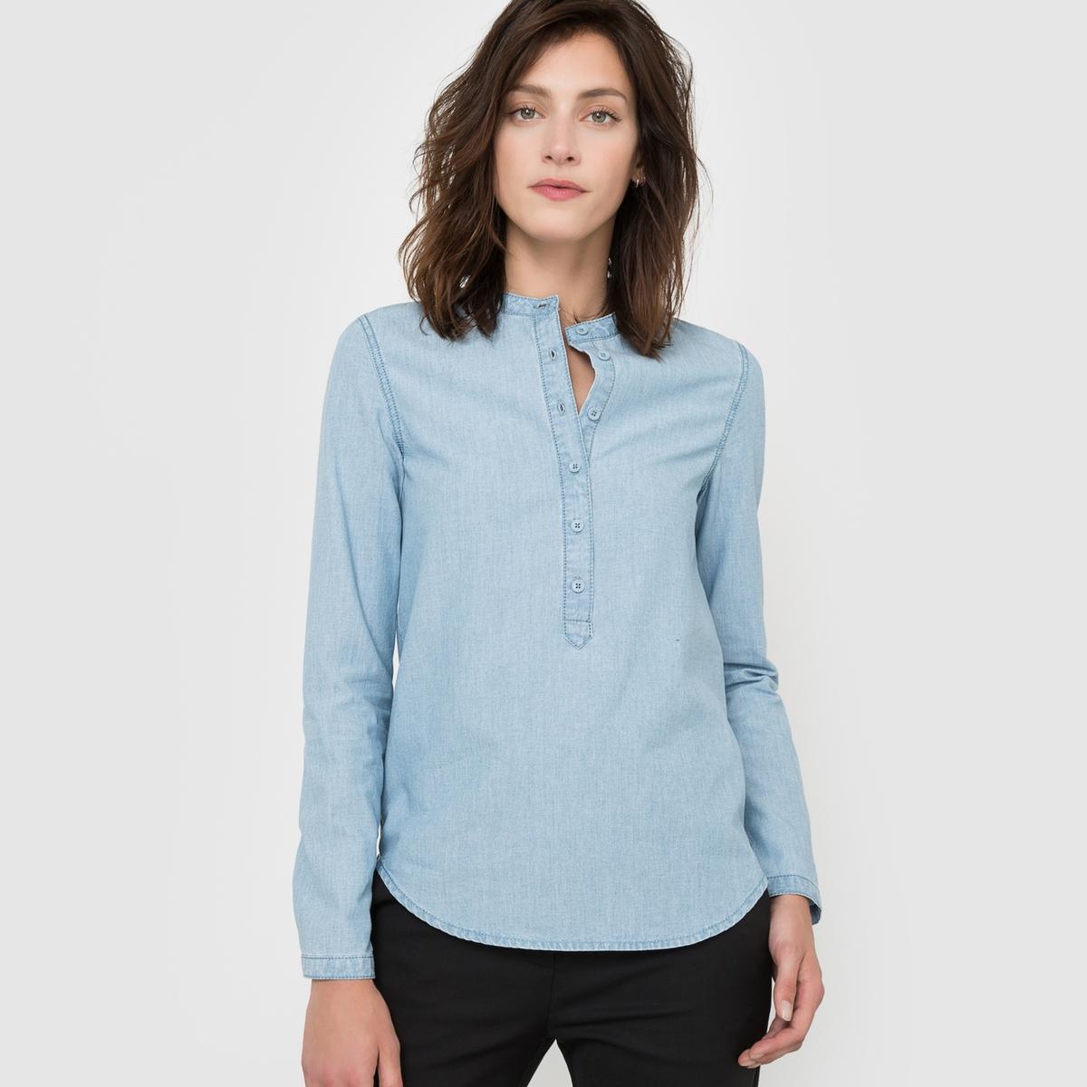 Рубашка с длинными рукавами из хлопка