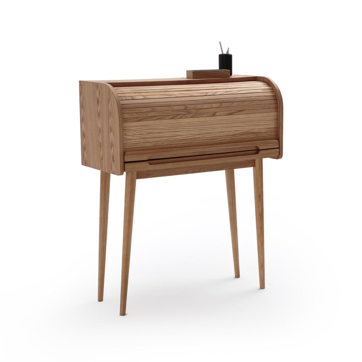 Стол La Redoute Письменный со шторкой Wapong единый размер каштановый