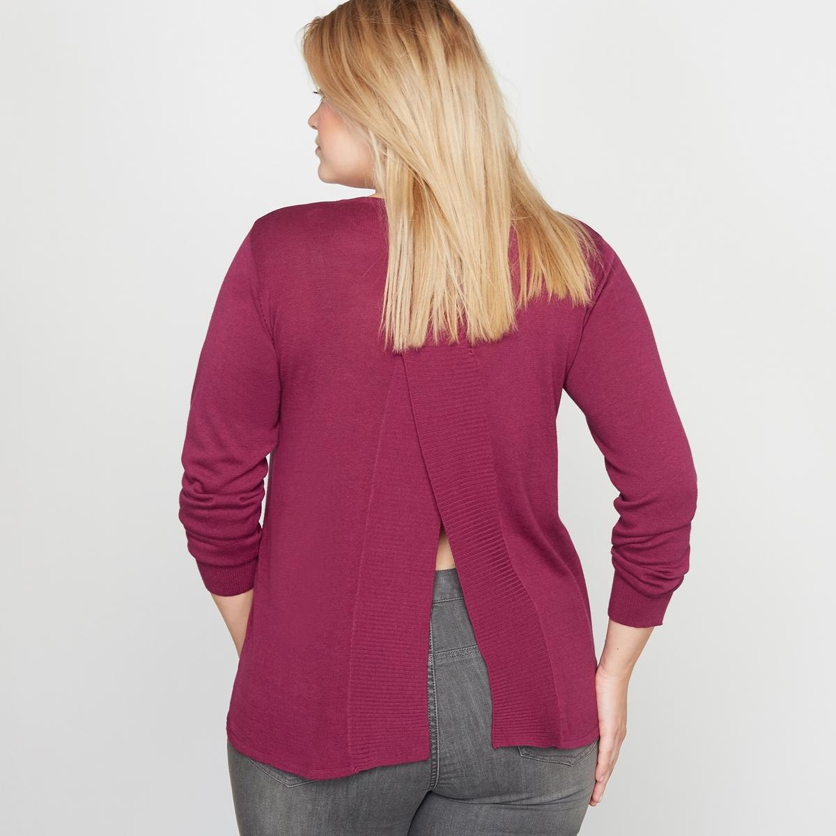 Пуловер с фантазийной  спинкой от CASTALUNA