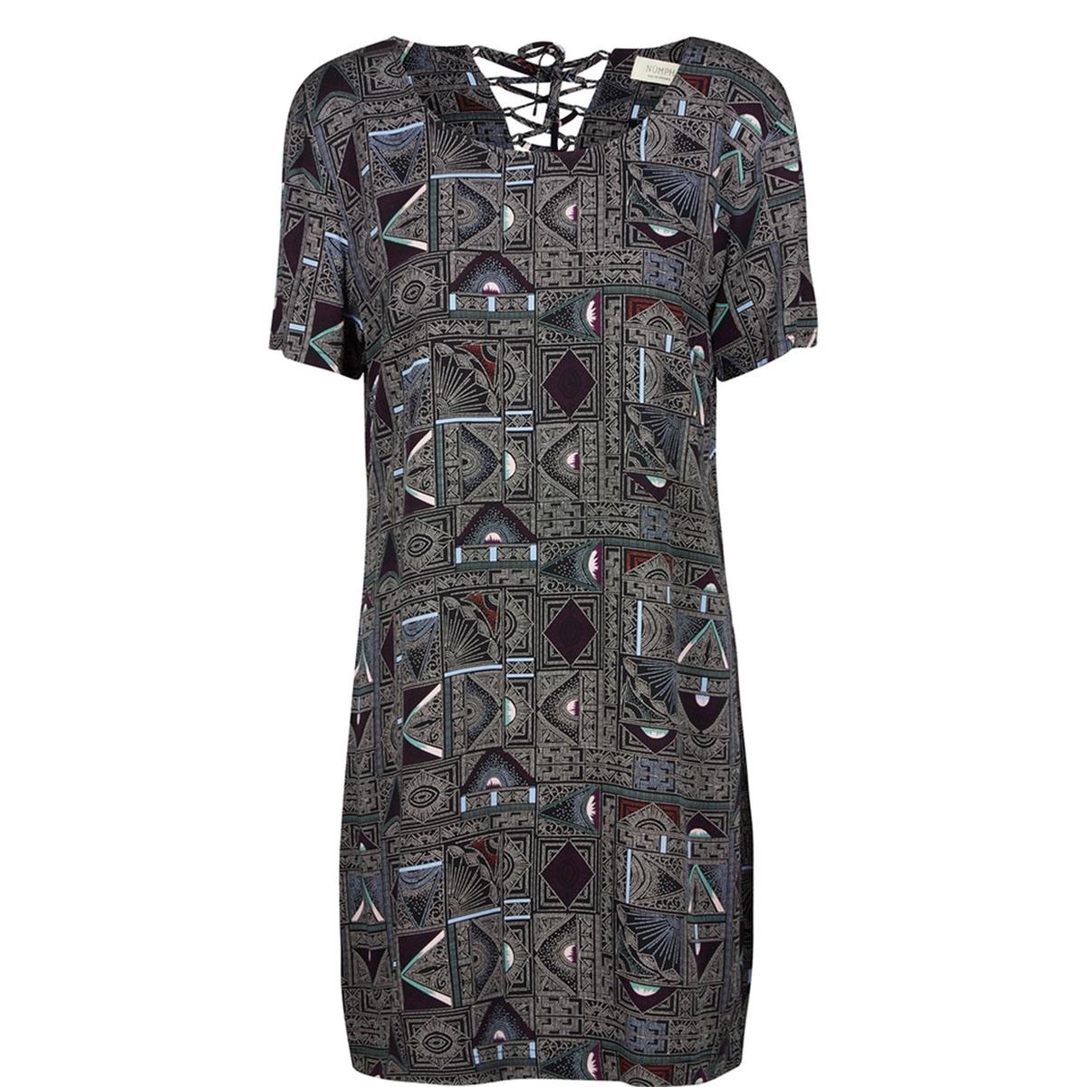 Платье с рисунком Komelia, спинка со шнуровкойСостав и описаниеМатериал : 98% вискозы, 2% эластанаМарка : N?mphМодель : KomeliaУходСледуйте рекомендациям по уходу, указанным на этикетке изделия<br><br>Цвет: рисунок графичный/черный