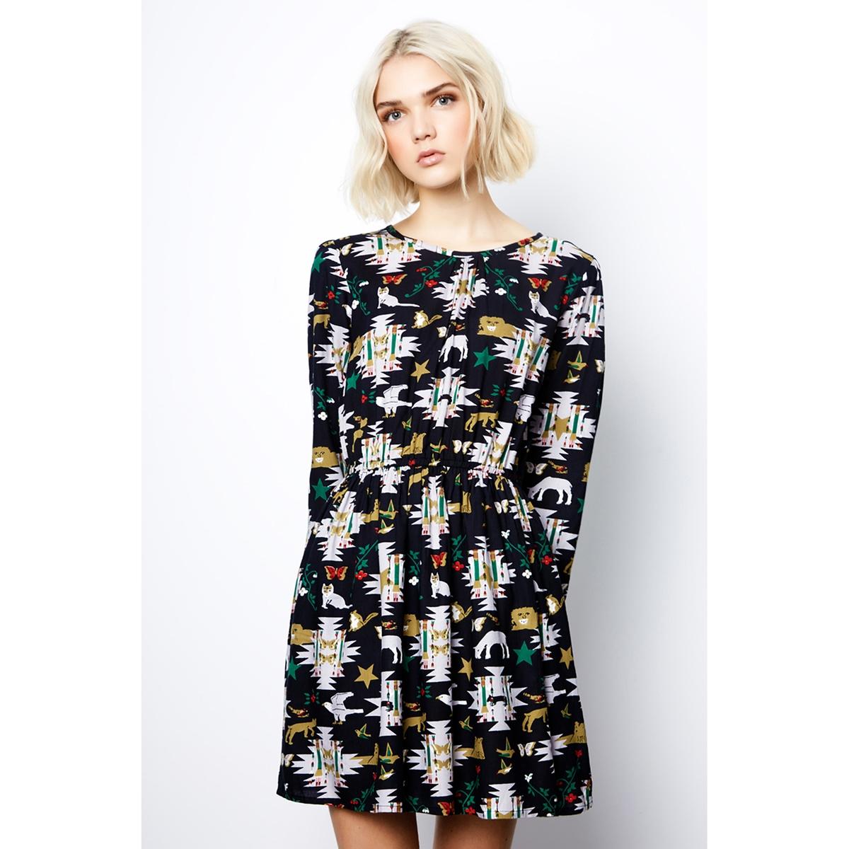 Платье короткое с длинными рукавами
