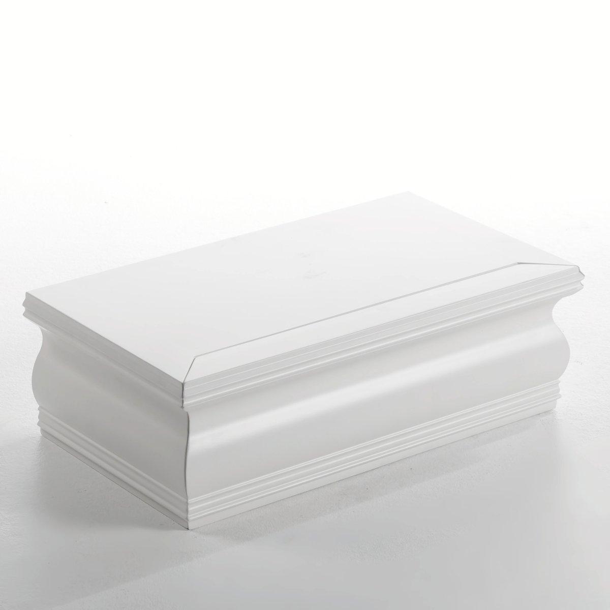 Тумба-ящик   VictoireСамостоятельно или  поверх других предметов мебели, данная тумба-ящик с резьбой может быть расположена в любой части комнаты,  а также на стене . МДФ с лаковым покрытием- нитроцеллюлоза и полиуретан (модель под покраску из массива сосны). .49 x P.27,5 x H.15 см.<br><br>Цвет: белый<br>Размер: единый размер
