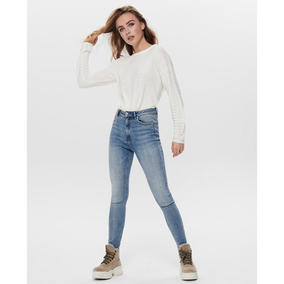 Пуловер La Redoute Из тонкого трикотажа с круглым вырезом XL бежевый