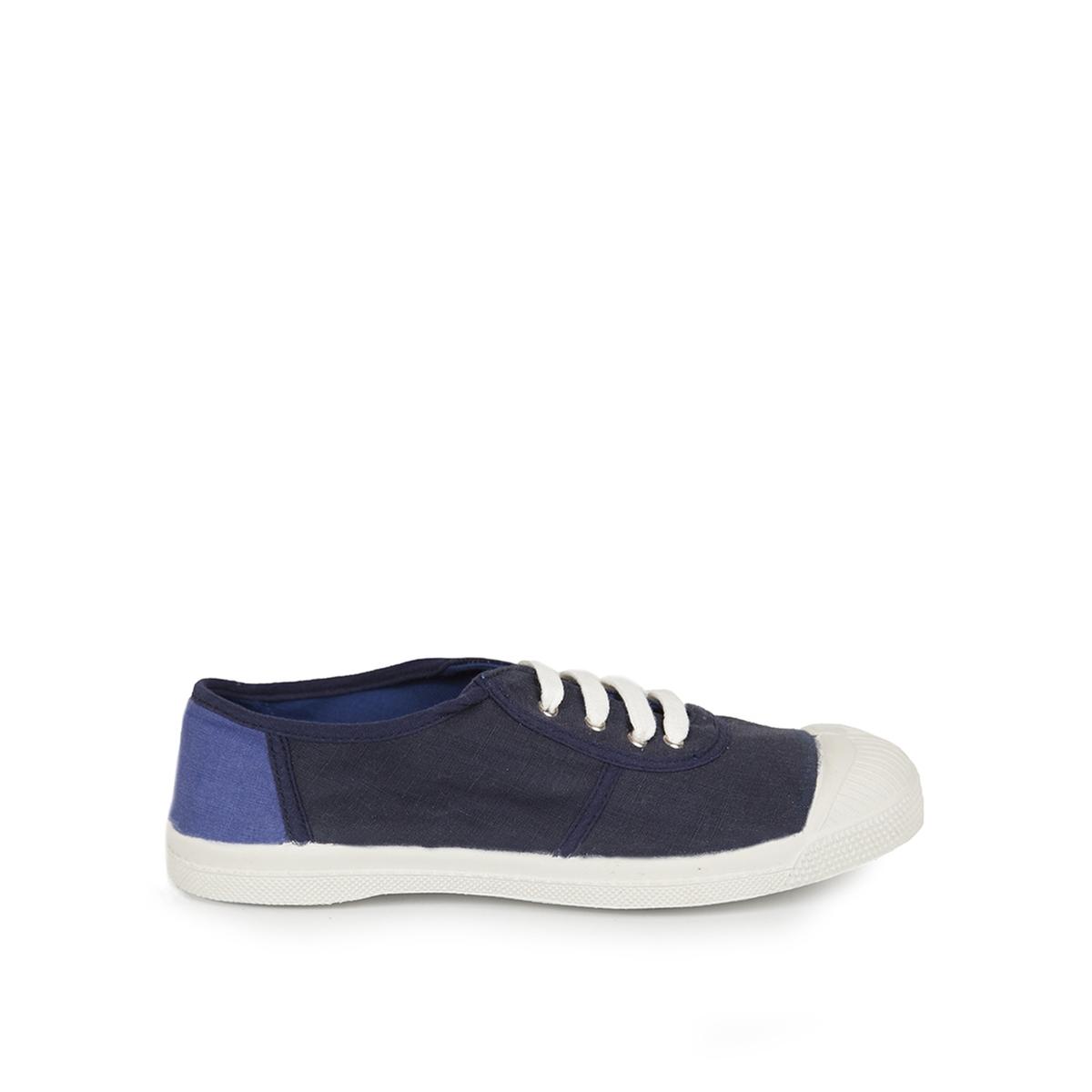 Zapatillas bicolor con cordones