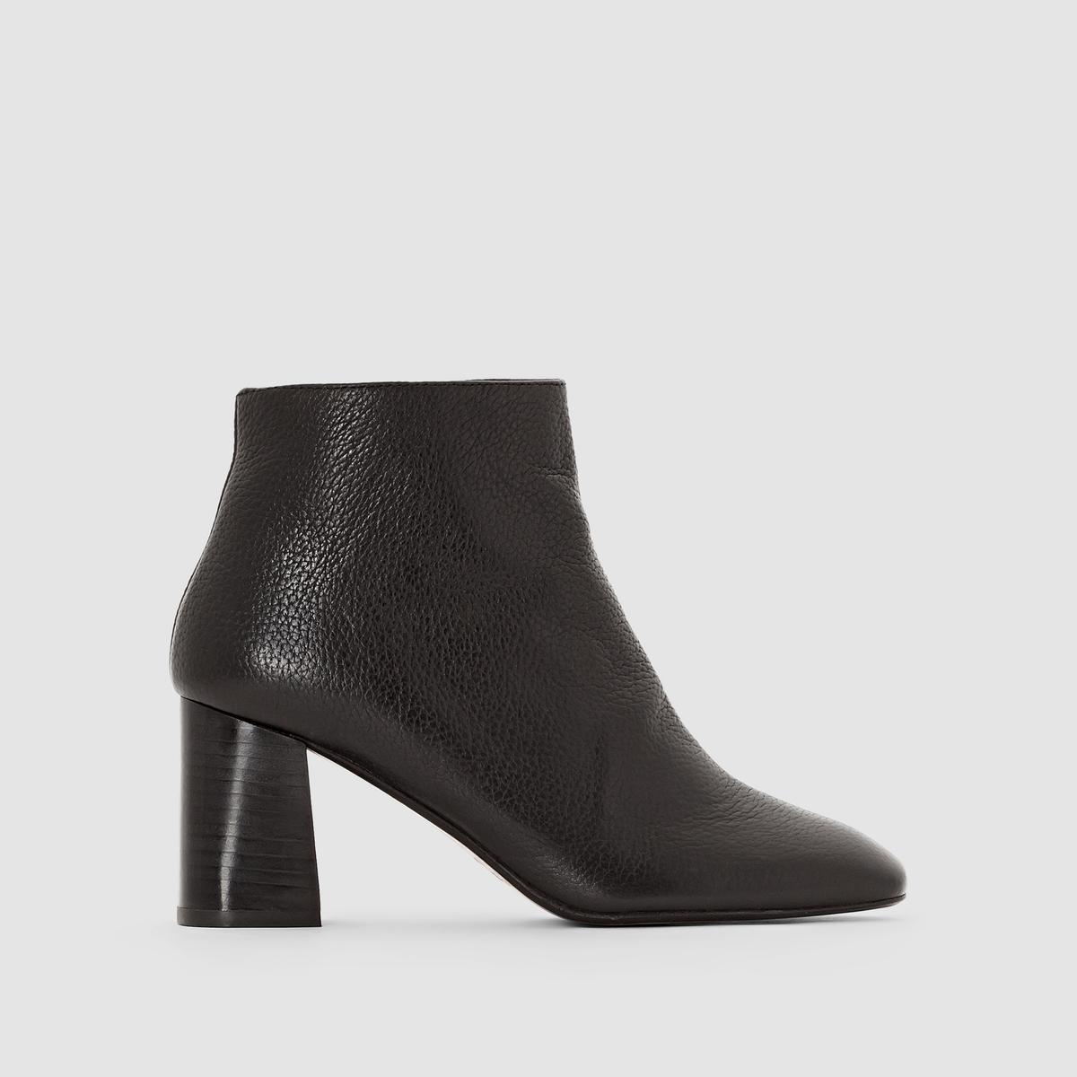 Ботильоны кожаные на высоком каблуке Daly цены онлайн