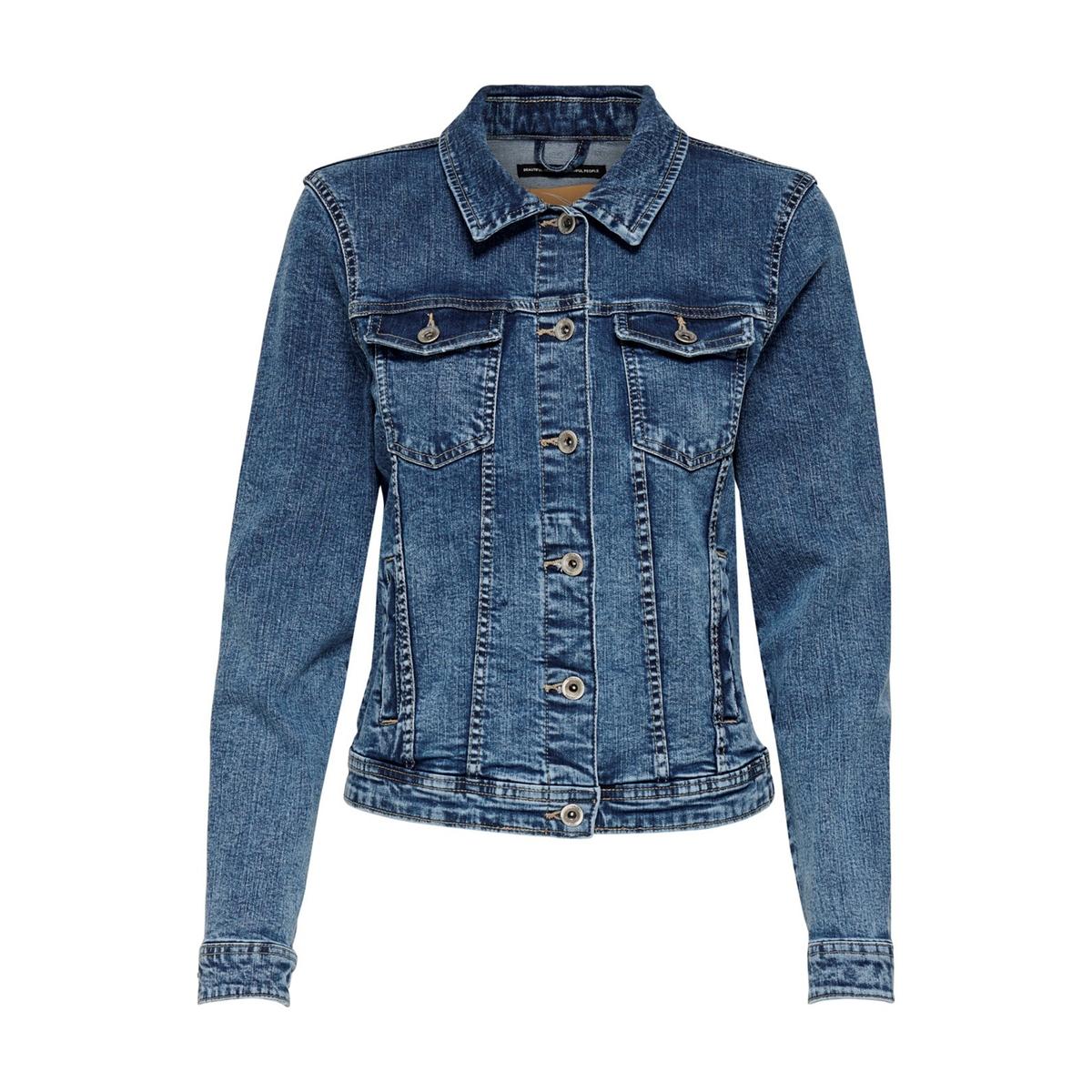 Куртка LaRedoute Прямого покроя из джинсовой ткани 34 (FR) - 40 (RUS) синий