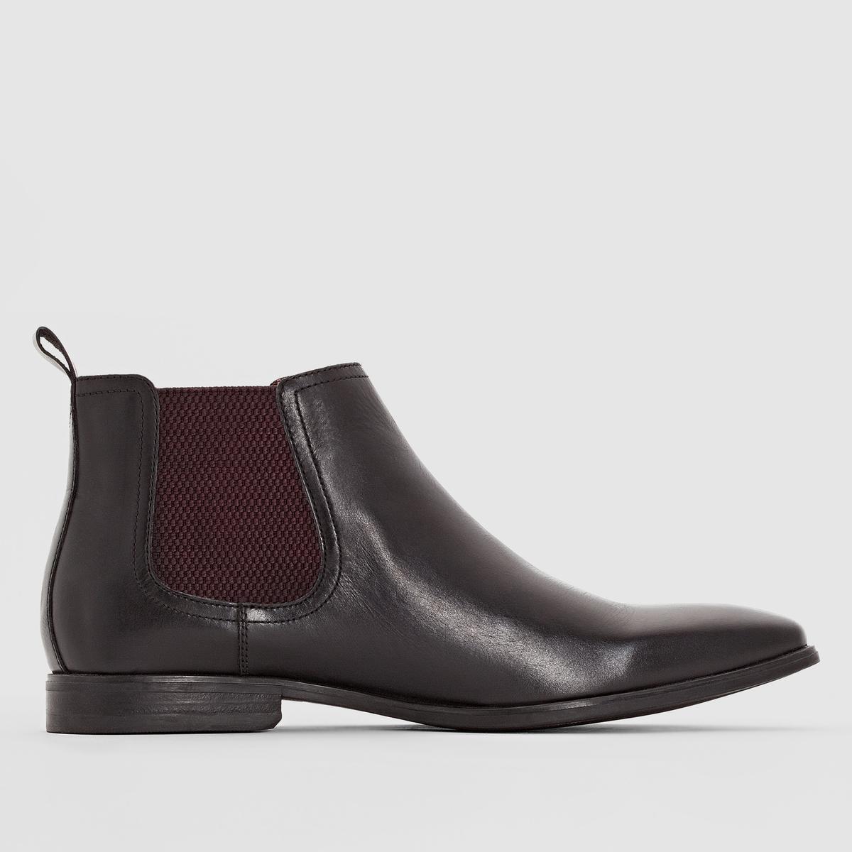Ботильоны из кожи BASE LONDON WILLIAMПреимущества : ботильоны BASE LONDON в обновленном стиле челси для этого сезона, комфортные и удобные в носке  .<br><br>Цвет: черный
