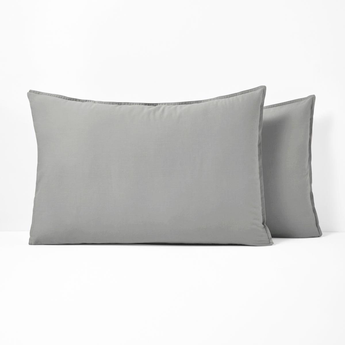 Fronha de almofada lisa, em algodão lavado, SCENARIO