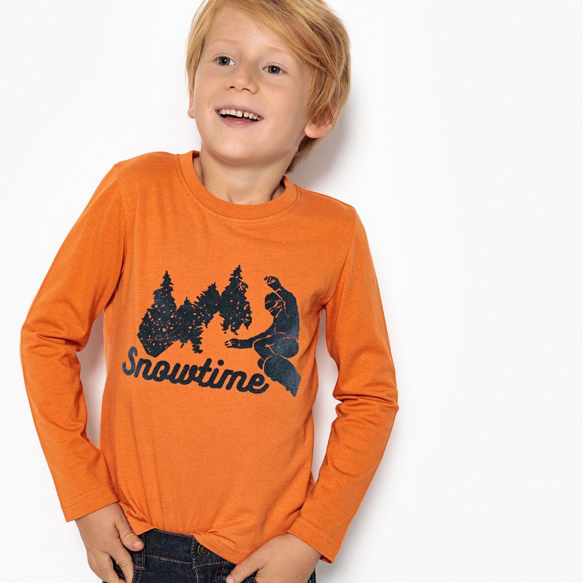 Футболка La Redoute С длинными рукавами 3 года - 94 см оранжевый colleen collins let it bree let it bree can t buy me louie