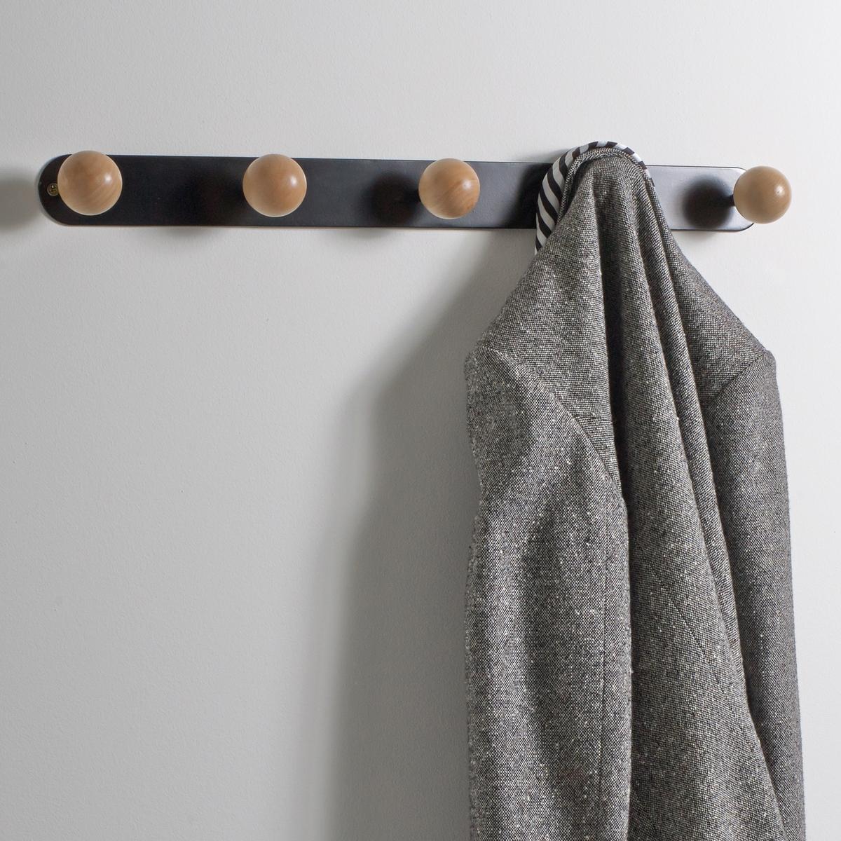 Вешалка настенная с 5 крючками AGAMAПрактичная вешалка AGAMA легко найдет свое место на стене в спальной или прихожей Описание вешалки AGAMA:Вешалка с 5 округлыми крючками для крепления к стене (крепежные элементы не входят в комплект).Вешалка требует самостоятельного монтажа.Характеристики вешалки AGAMA: 5 крючков в форме шаров из натуральной березы.Каркас вешалки из металла с матовой отделкой.Размеры вешалки AGAMA:Длина: 80 см.Глубина: 7,5 см.Высота: 5,2 см.<br><br>Цвет: белый,черный