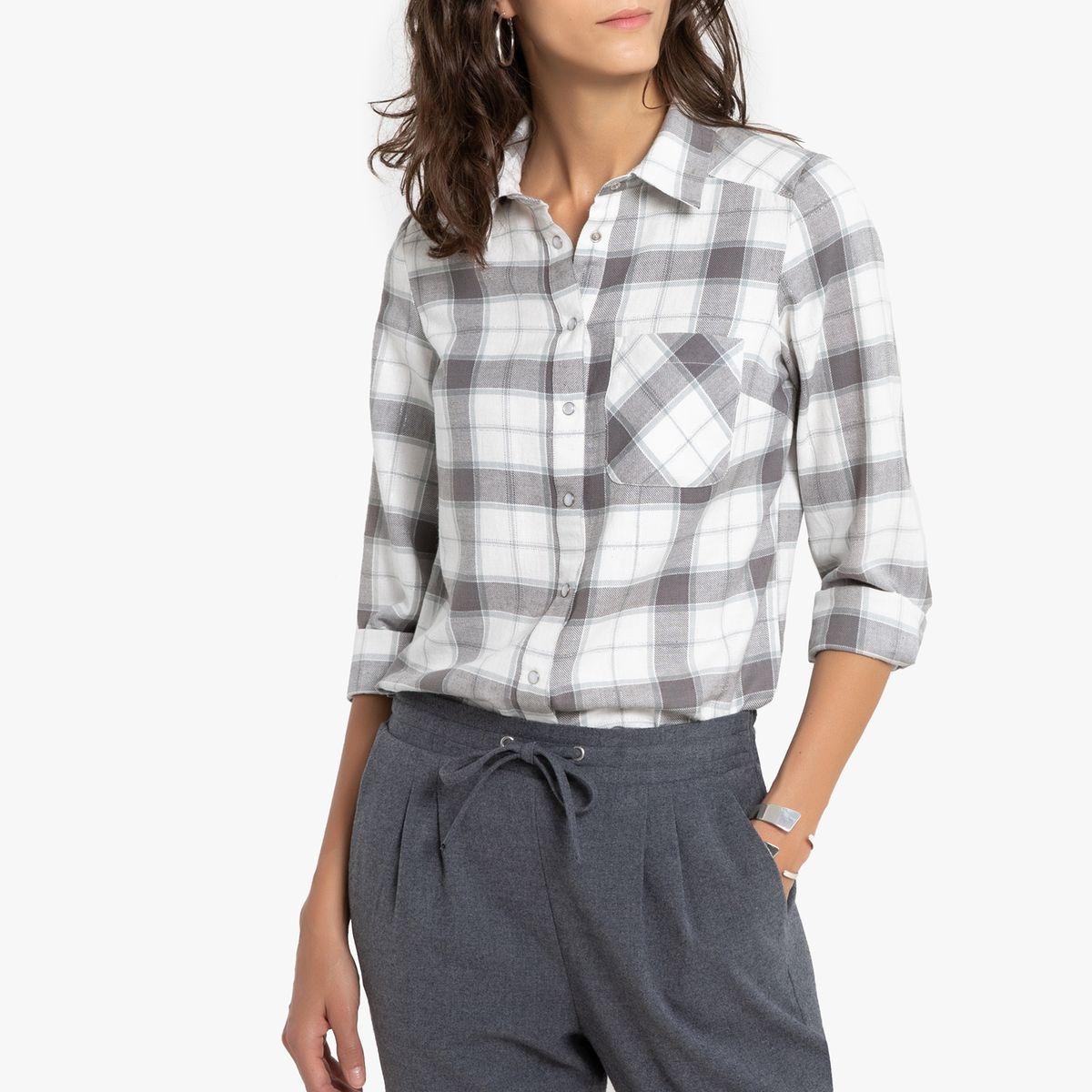 Chemise à carreaux, manches longues