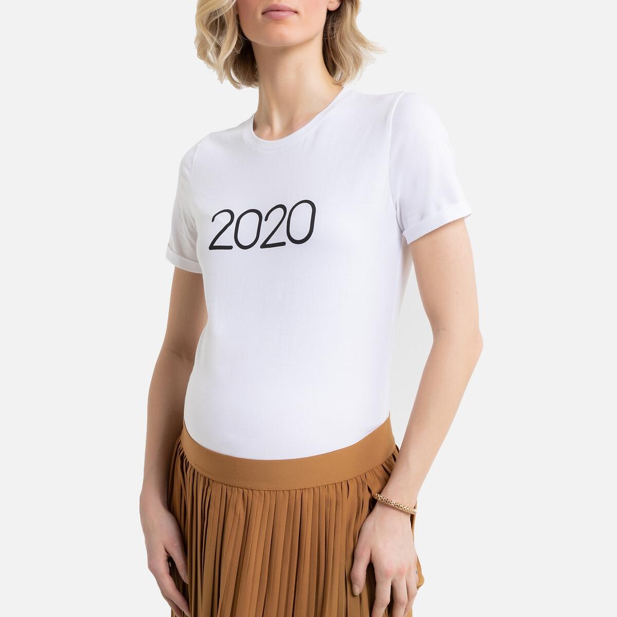T-shirt para grávida com mensagem 2020