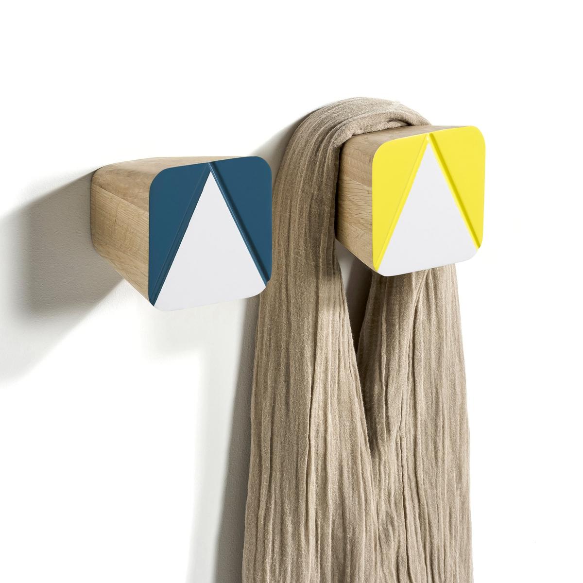 2 вешалкиПростая форма в скандинавском стиле. Разместив их рядом, Вы украсите стену в доме. Характеристики:-Выполнены из крашеного дуба.- Крепятся к стене (болт и дюбель для крепления продаются отдельно).Размеры:- 8 x 8 x 8 см.Продаются комплектом из 2 шт.<br><br>Цвет: разноцветный<br>Размер: единый размер