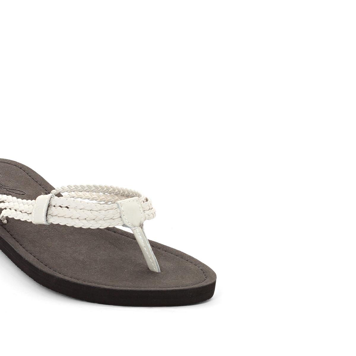 Вьетнамки IvyВерх/Голенище : синтетика   Стелька : синтетика   Подошва : каучук   Форма каблука : плоский каблук   Мысок : открытый мысок   Застежка : без застежки<br><br>Цвет: черный/ белый