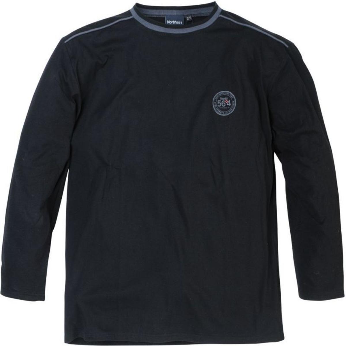 T-shirt col rond manches longues north noir