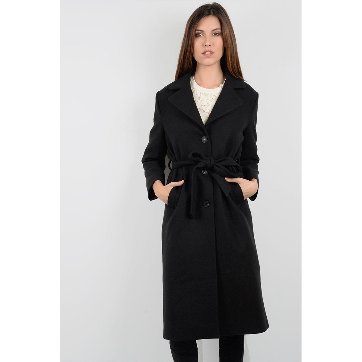 Пальто длинное с ремешкомОписание:Пальто длинное черное T437H17 MOLLY BRACKEN, 30% шерсти . Широкий воротник. Планка застежки на пуговицы и ремешок на поясе . 2 кармана.Детали •  Длина  : удлиненная модель •  Воротник-поло, рубашечный • Застежка на пуговицыСостав и уход •  30% шерсти, 70% полиэстера •  Подкладка : 100% полиэстер •  Следуйте советам по уходу, указанным на этикетке<br><br>Цвет: черный<br>Размер: S