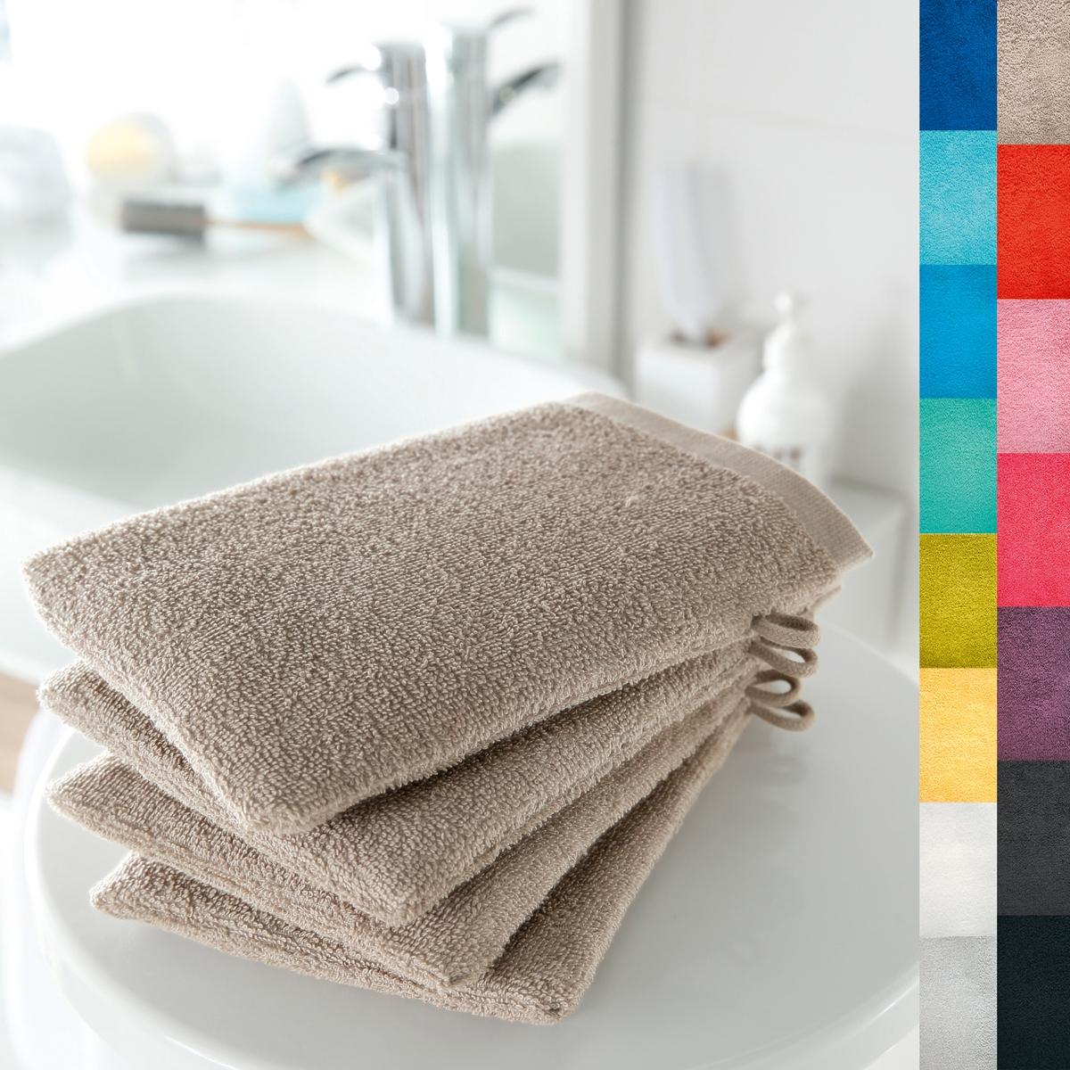 4 банные рукавички, 420 г/м?Мягкая и прочная ткань, 100% хлопка, 420 г/м?. Кайма крупинки. Отличные впитывающие свойства. Размер 15 х 21 см. Стирка при 60°. Превосходная стойкость цвета.  Машинная сушка. В комплекте 4 рукавички.<br><br>Цвет: темно-серо-каштановый светлый