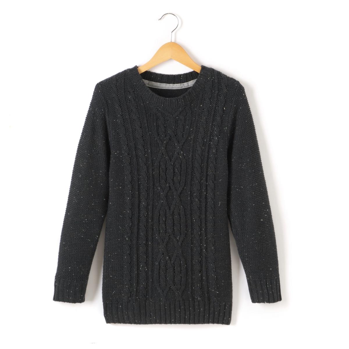 Пуловер с узором косы, 10-16 лет