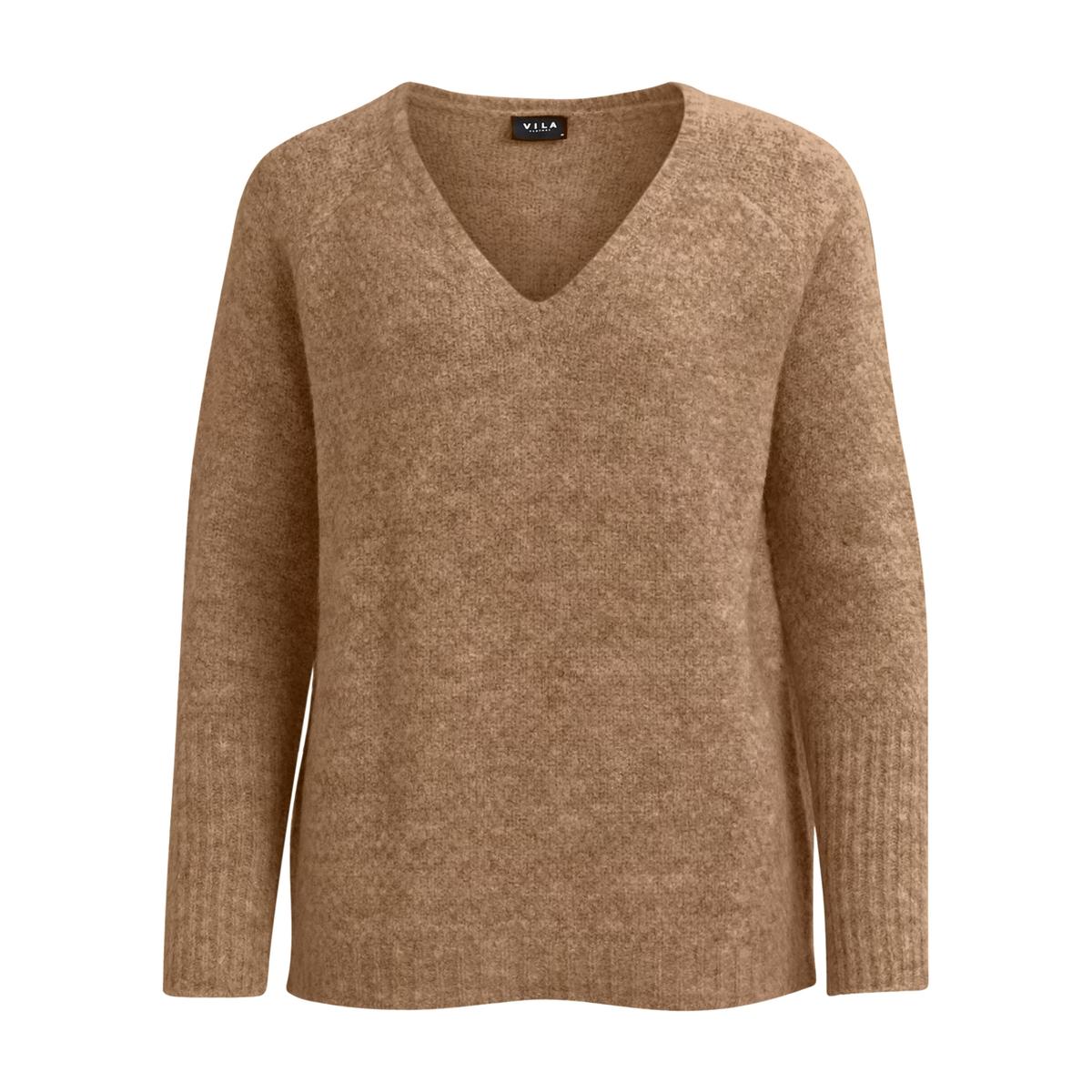 Пуловер с V-образным вырезом из тонкого трикотажа пуловер с v образным вырезом из тонкого трикотажа
