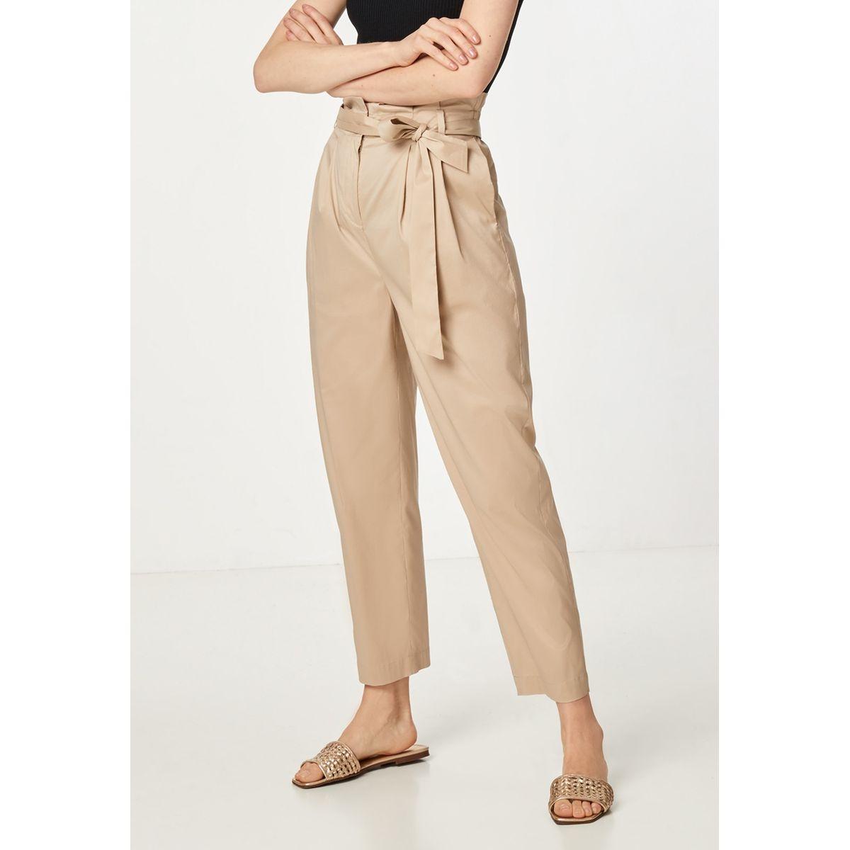Pantalon paper bag doté d'une ceinture à nouer