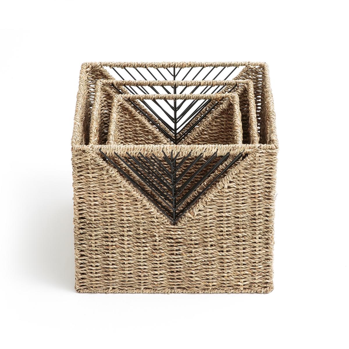 3 корзины плетеные для хранения