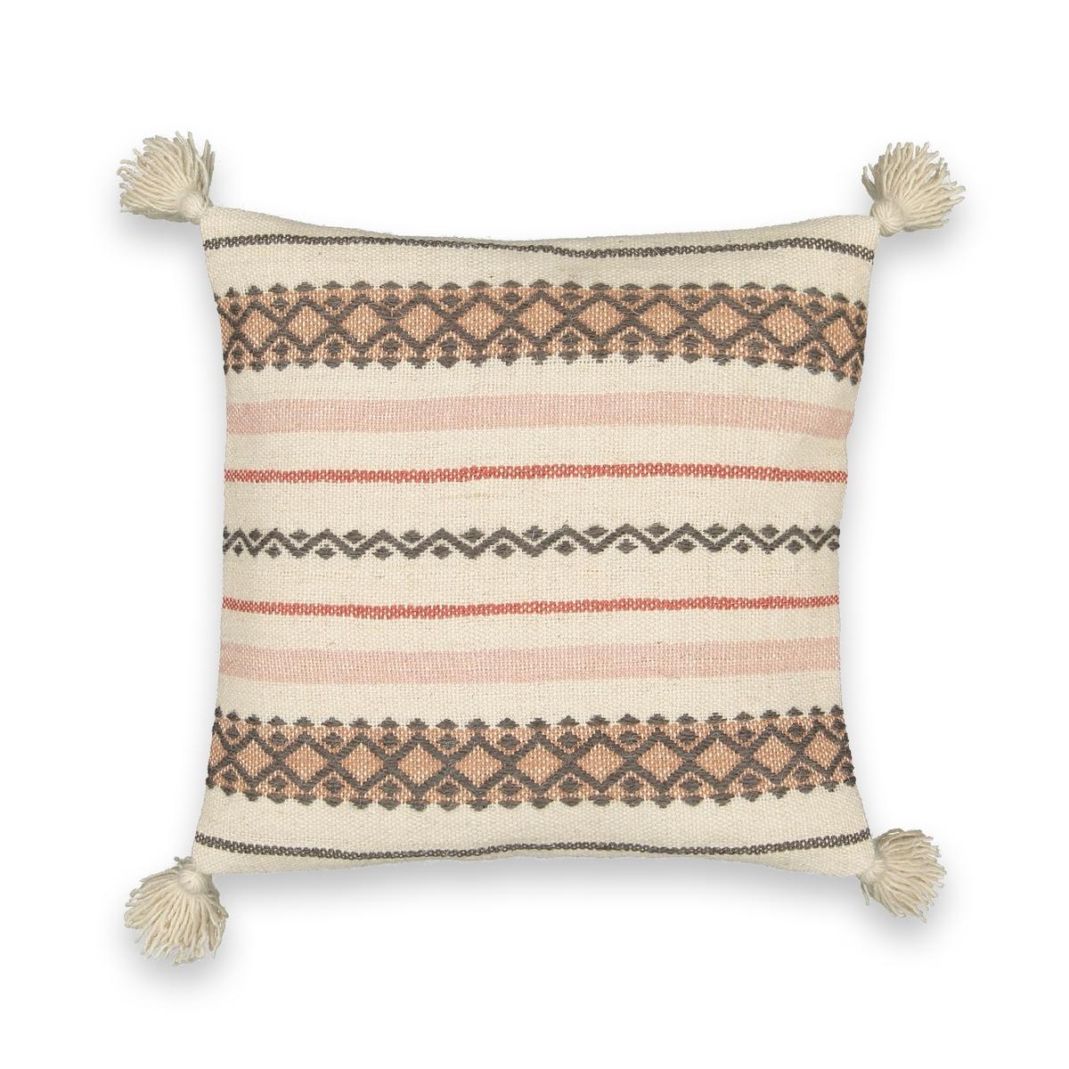 Чехол La Redoute На подушку-валик в берберском стиле Mirmillon 45 x 45 см бежевый ковер la redoute в берберском стиле из шерсти tekouma 120 x 180 см бежевый