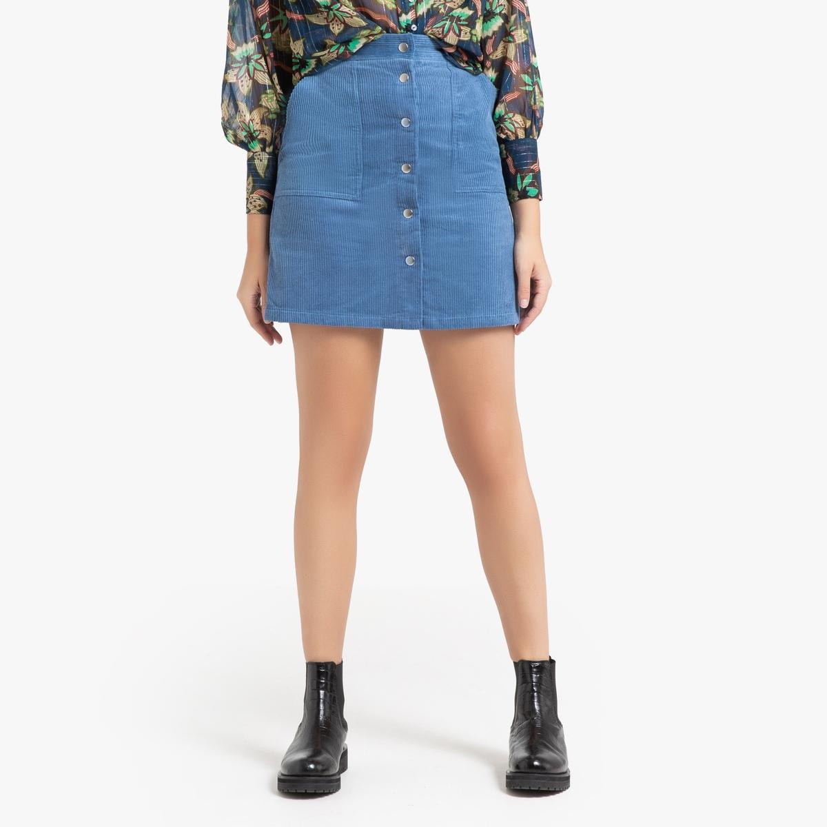 Юбка La Redoute Прямая короткая ELIANORE L синий юбка жаккардовая короткая