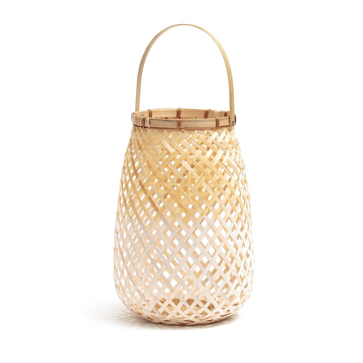 Светильник бамбуковый белый/натуральный CORDO