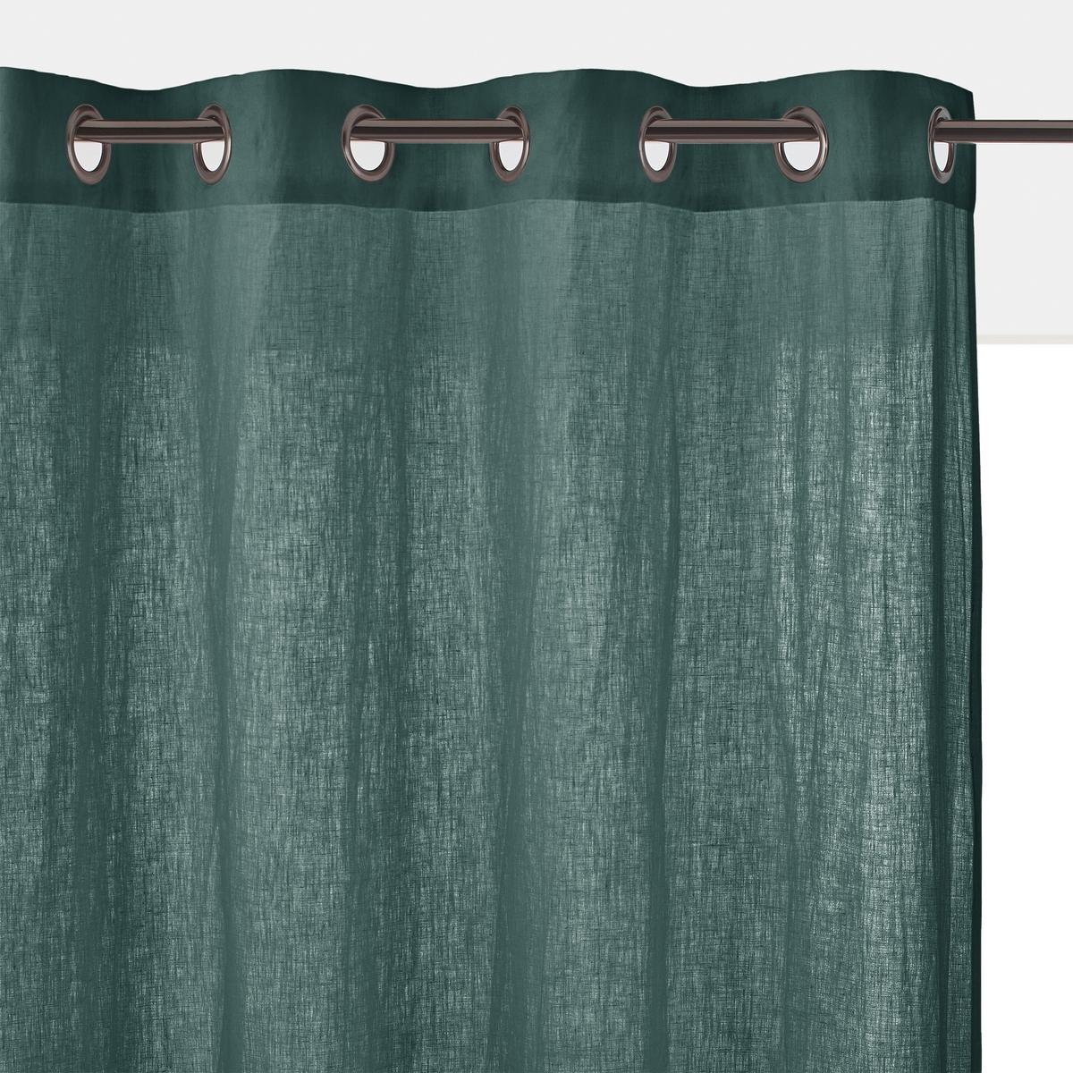 Штора льняная с люверсами, ONEGAХарактеристики льняной шторы ONEGA :Качество BEST, требование качества. 100% ленПодшитый низ.Отделка люверсами, цвет темно-серый металлик.Отличная стойкость цветов.Размеры льняной шторы ONEGA: Выс. 180 x Шир.135 смВыс. 220 x Шир.135 смВыс.260 x Шир.135 смВыс.350 x Шир.135 смВсю коллекцию ONEGA Вы найдете на laredoute.ru Знак Oeko-Tex® гарантирует, что товары прошли проверку и были изготовлены без применения вредных для здоровья человека веществ.<br><br>Цвет: антрацит,белый,бледный сине-зеленый,зеленый,прусский синий,розовая пудра,серо-бежевый,терракота