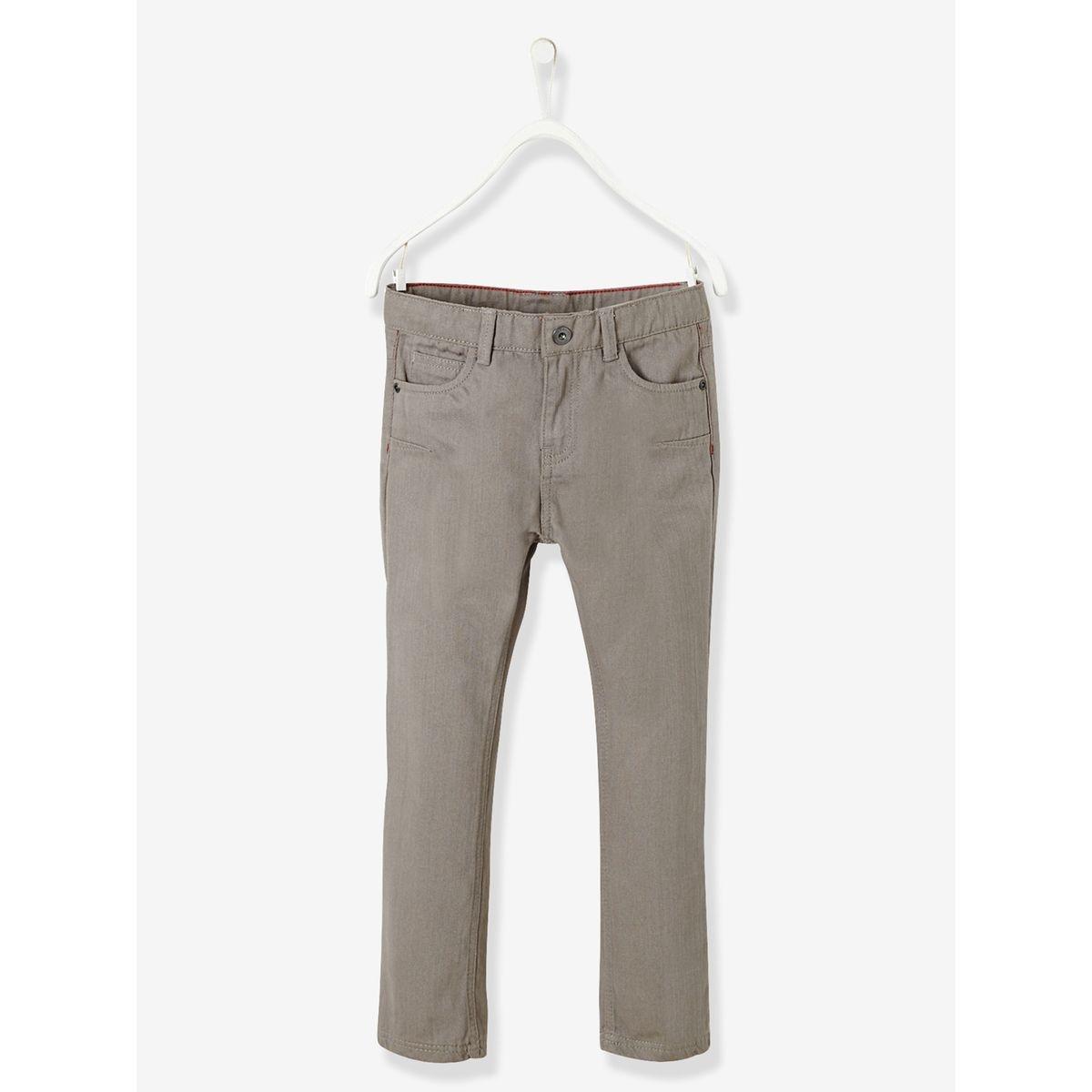 Pantalon droit garçon en sergé