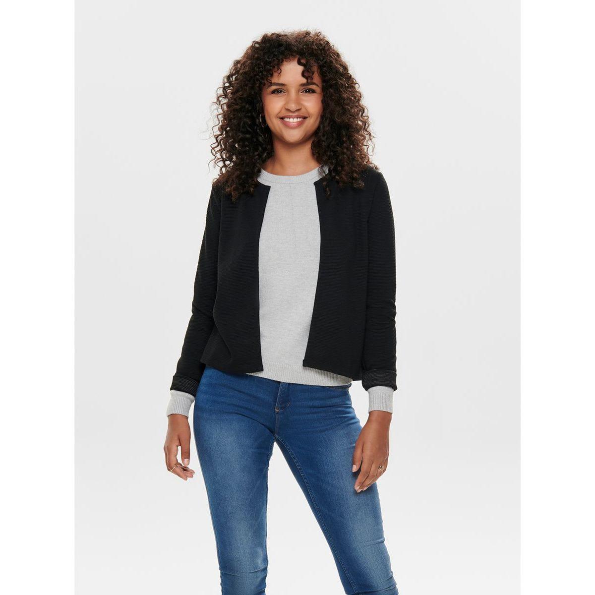 Кардиган La Redoute С длинными рукавами и круглым вырезом XS черный блузка la redoute с круглым вырезом цветочным рисунком и длинными рукавами s черный