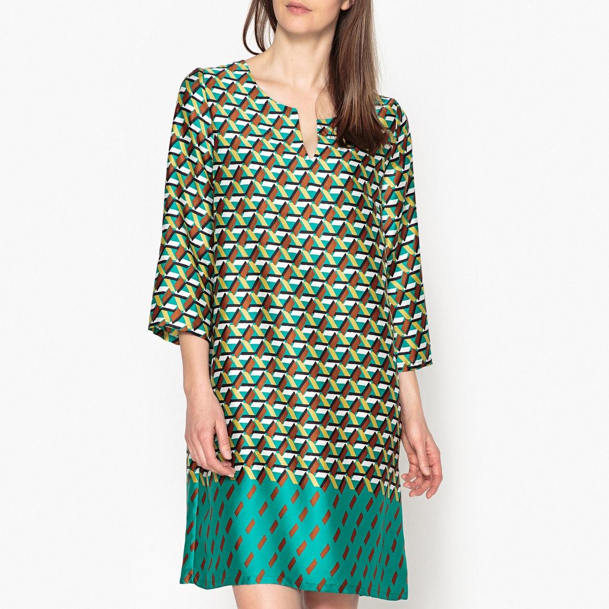 Платье с принтом VALINA платье с принтом и шифоном adzhedo платья и сарафаны с принтом