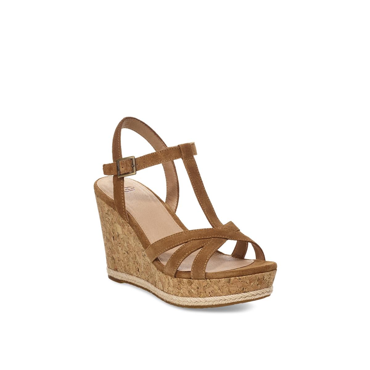 Imagen secundaria de producto de Sandalias con tacón de cuña de piel aterciopelada Melissa - UGG