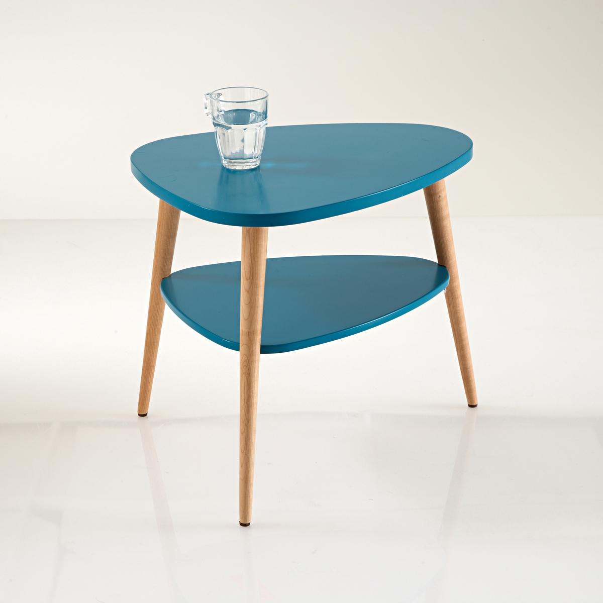 Столик La Redoute Прикроватный в винтажном стиле Jimi единый размер синий свитшот la redoute с логотипом в винтажном стиле la redoute m белый