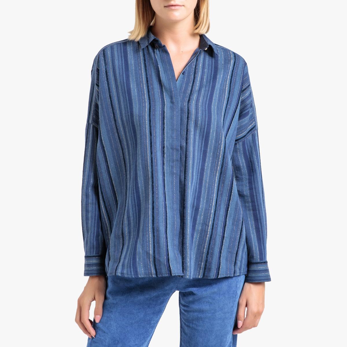 Блузка La Redoute В полоску с длинными рукавами LIMA S синий lee women s jeans lima