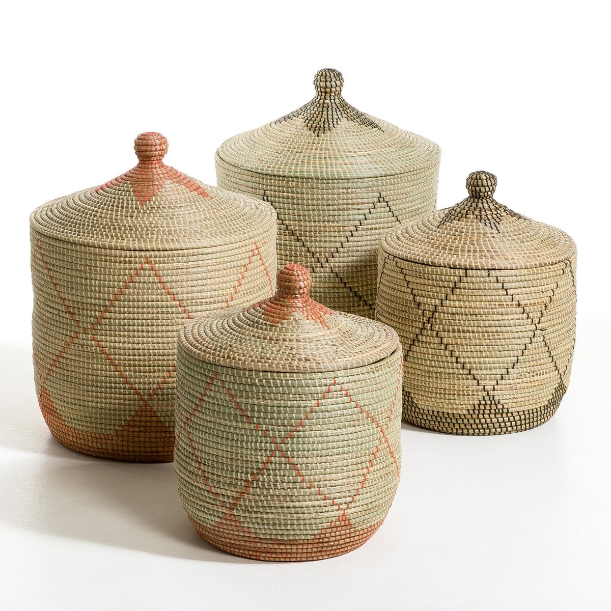 Корзина из рисовой соломы Louna, малая модель, высота 48 см